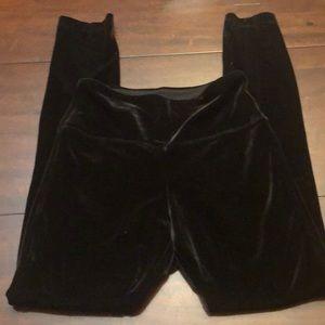 White House Black Market velvet leggings.